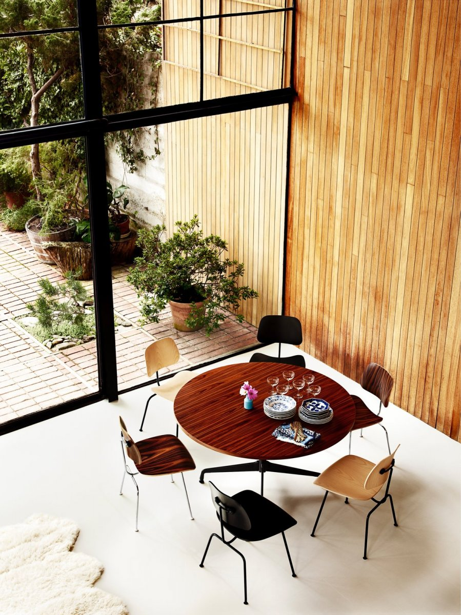 Eames Molded Plywood Dining Chairs.