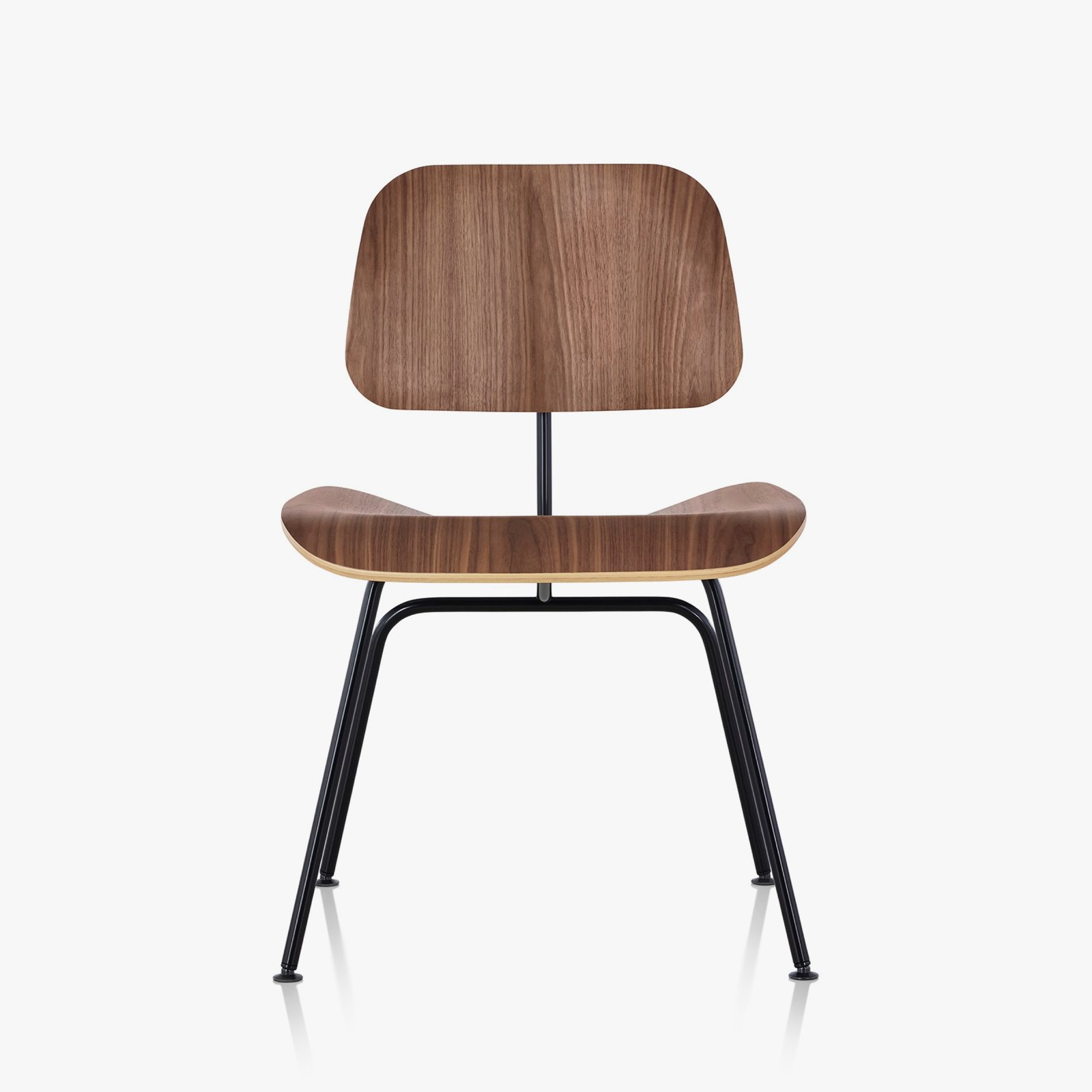 Herman Miller Eames Molded Plywood Dining Chair With Metal Base