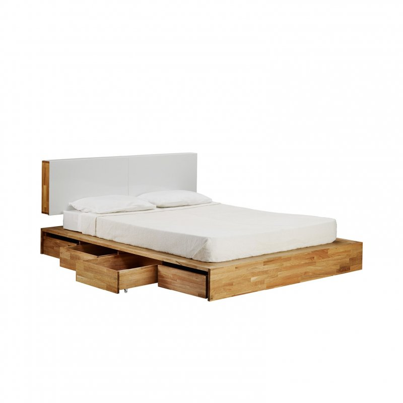 LAXseries Storage Bed, drawers opened.