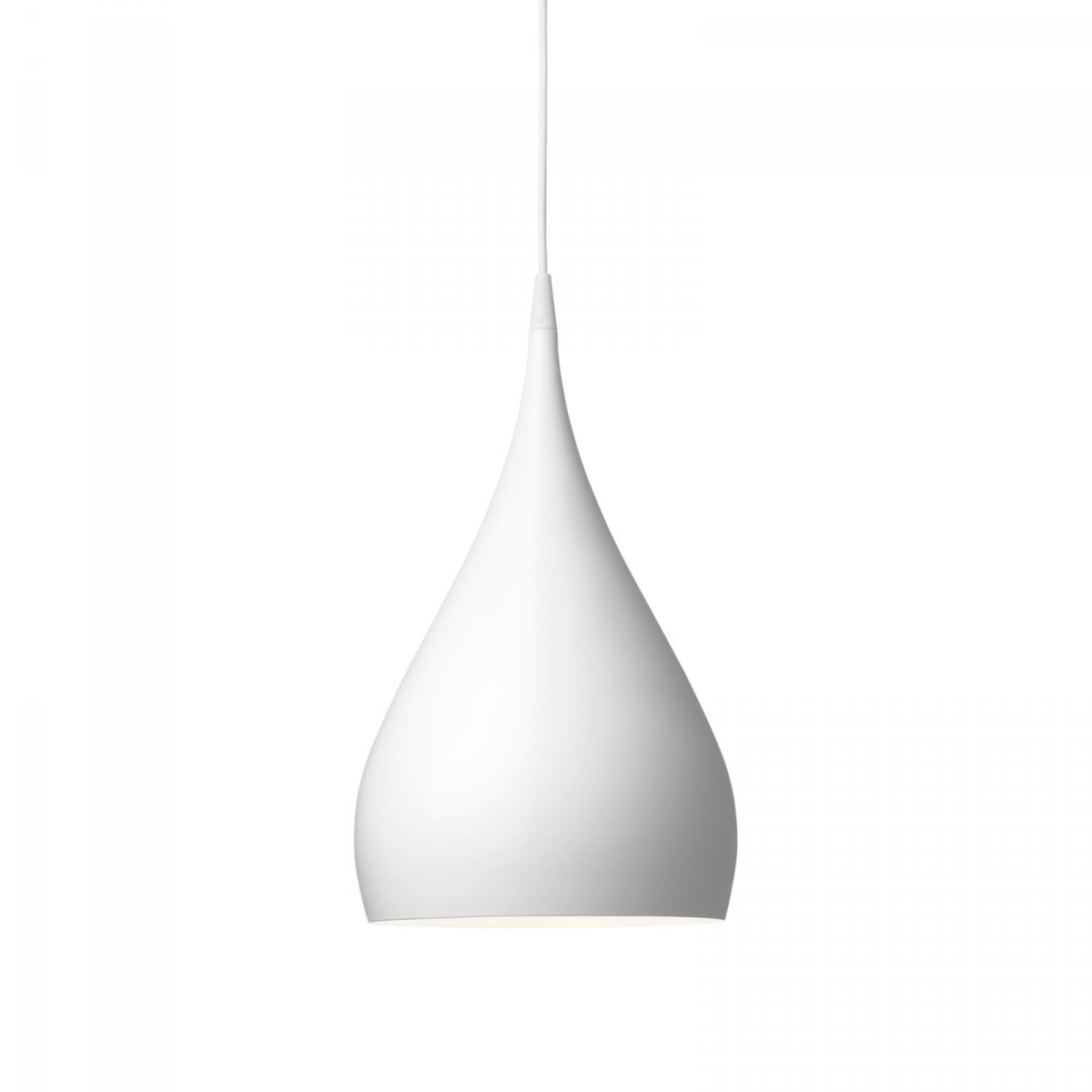 Spinning Light BH1 pendant lamp, white.