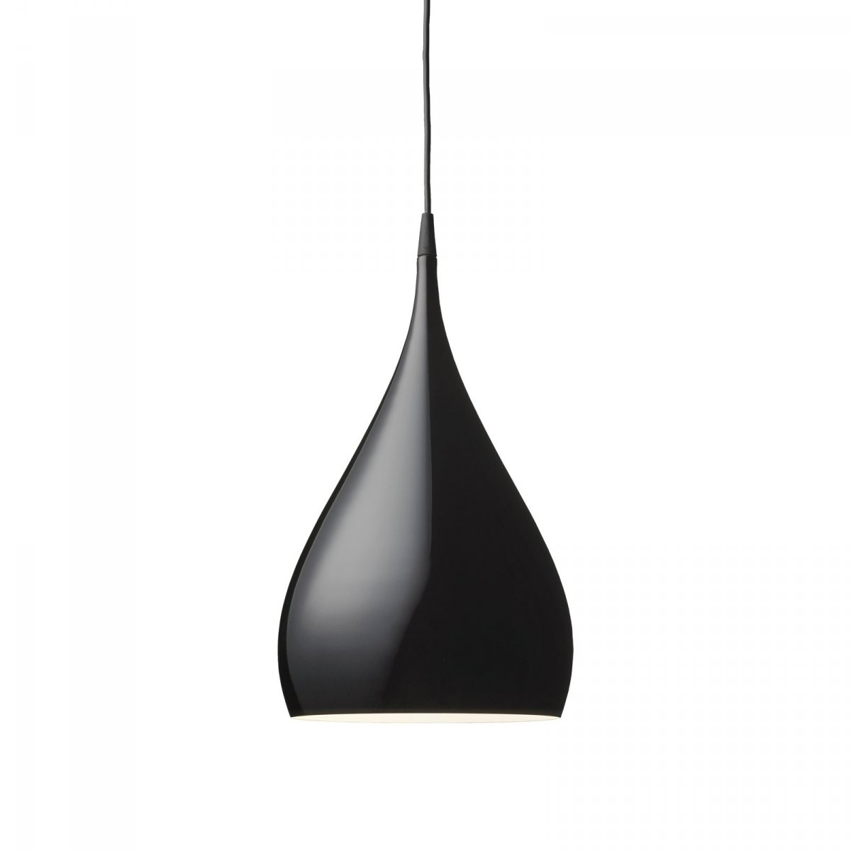 Spinning Light BH1 pendant lamp, black.