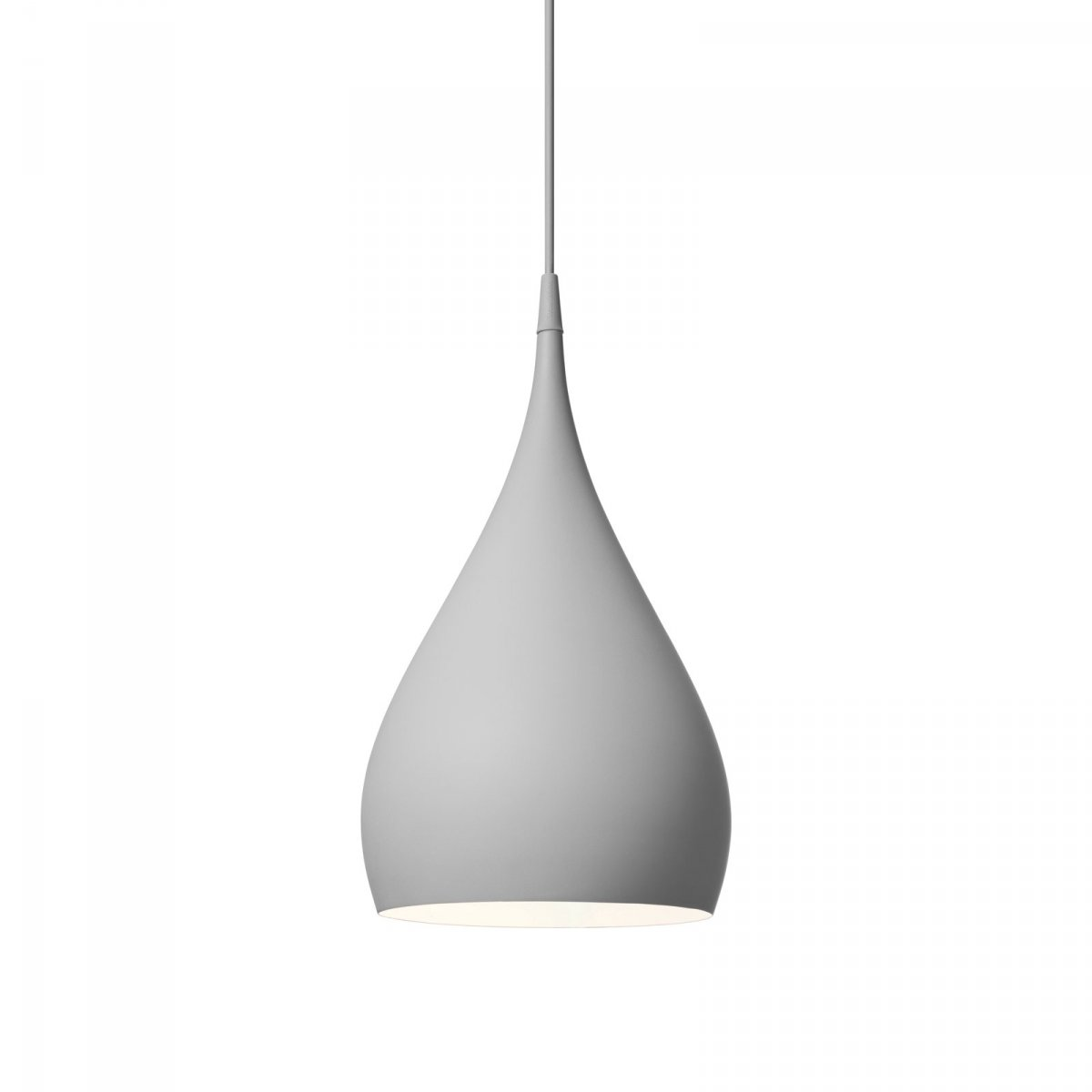 Spinning Light BH1 pendant lamp, dark matt gray.