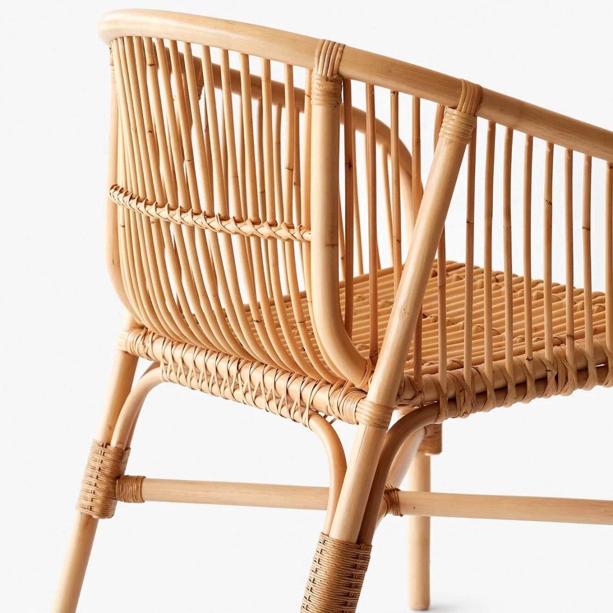 Jakarta Rattan Dining Chair, detail.