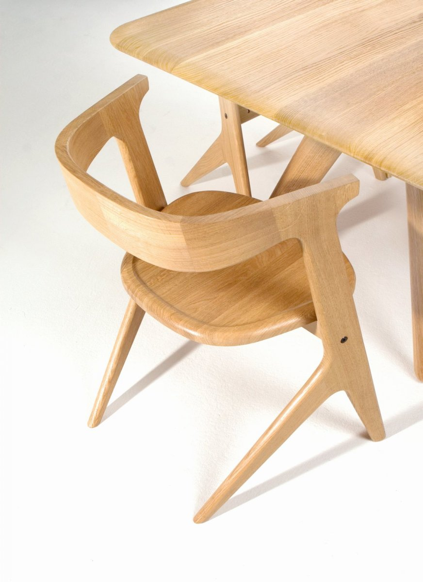 Slab Chair and Dining Table.