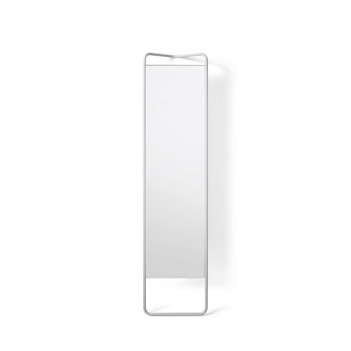 Kaschkasch Floor Mirror, white, front view.