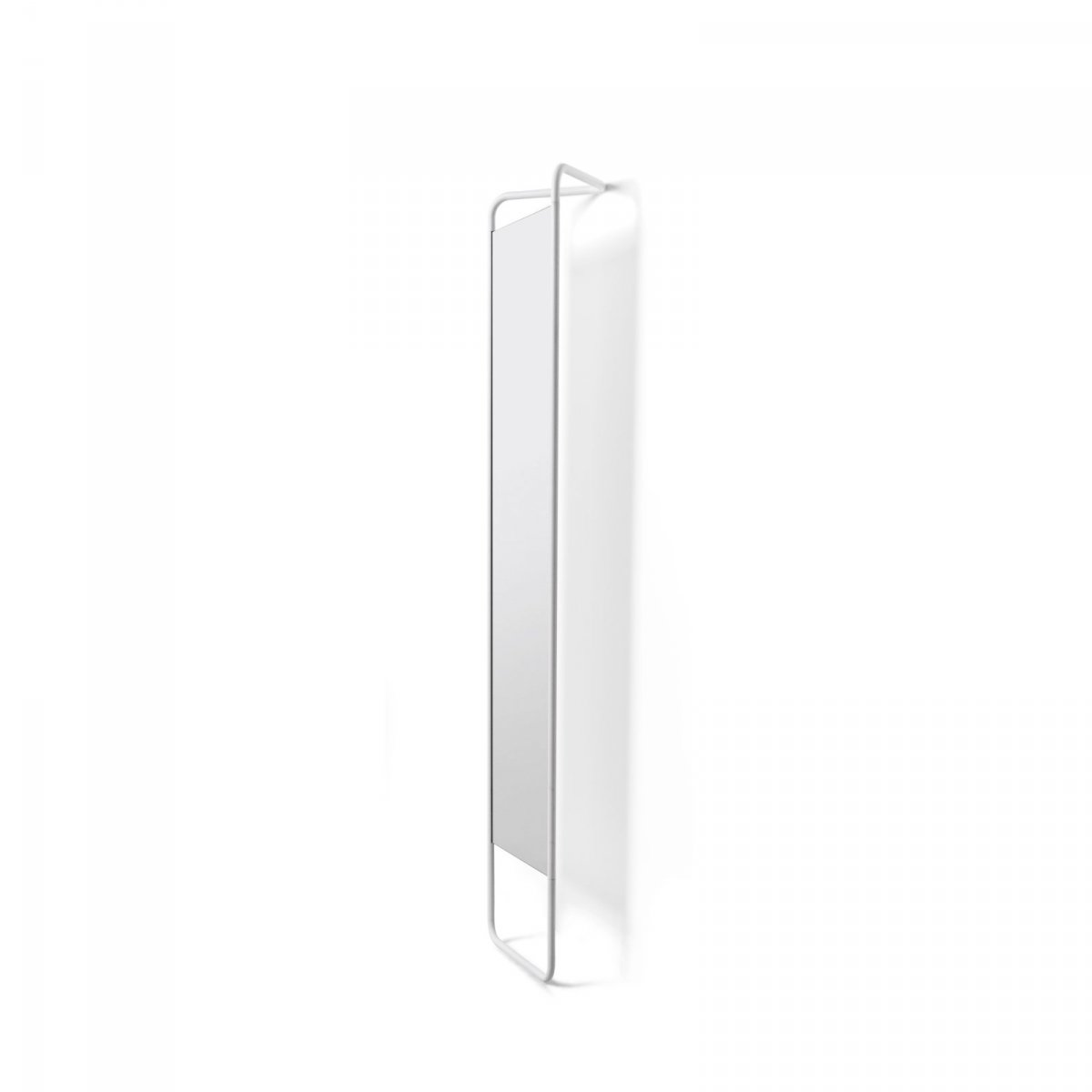 Kaschkasch Floor Mirror, white, side view.