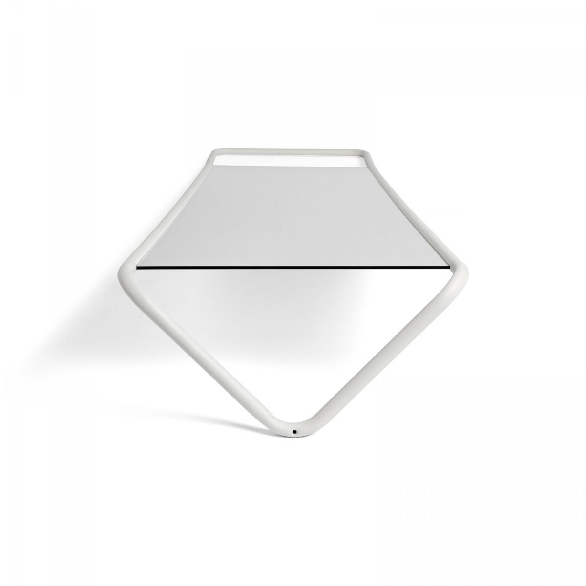 Kaschkasch Floor Mirror, white, top view.