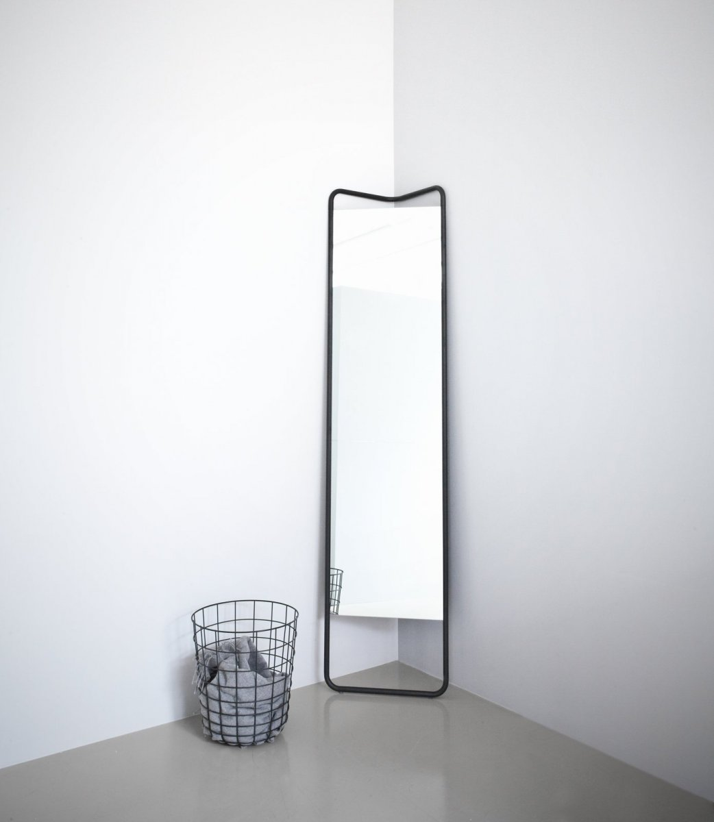 Kaschkasch Floor Mirror and Wire Bin.