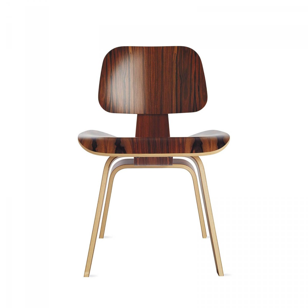 Eames Molded Plywood Dining Chair Wood Base, santos palisander.