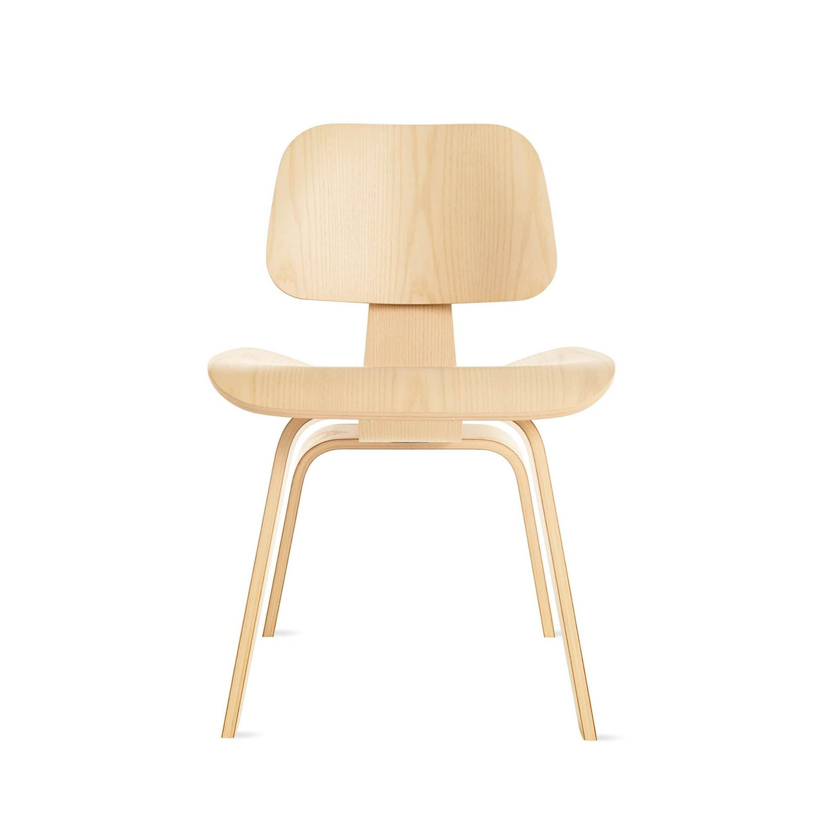 Eames molded plywood dining chair wood base by charles for Eames wooden chair