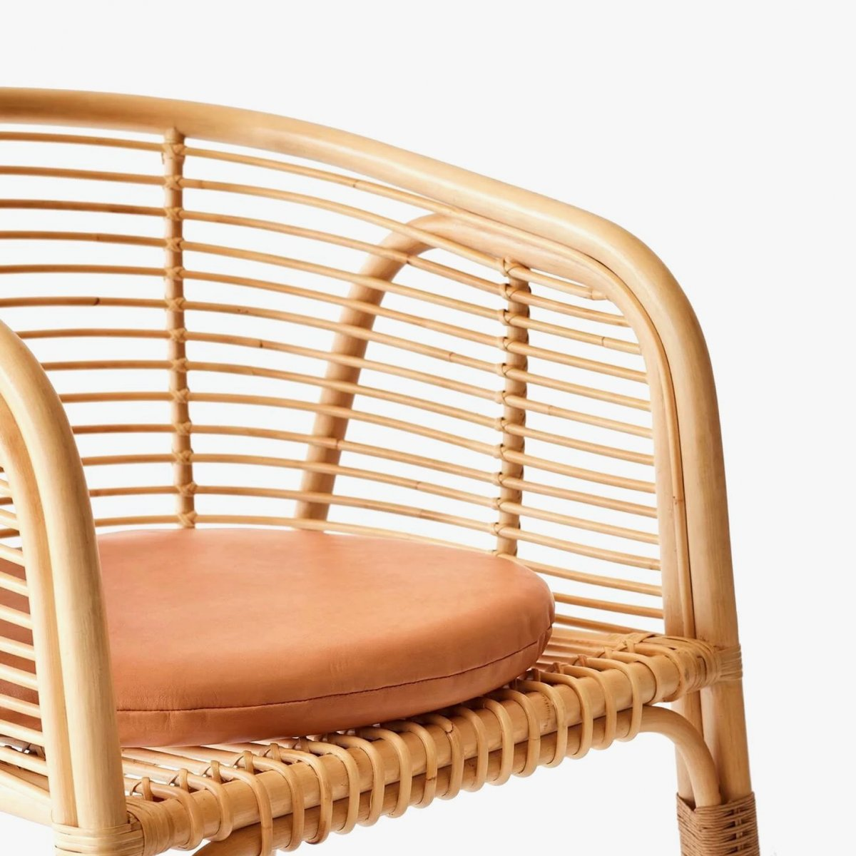Lombok Rattan Lounge Chair, detail.