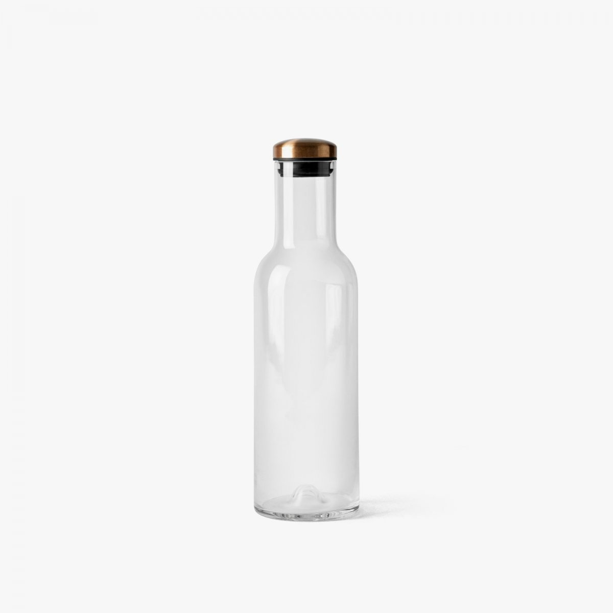 Bottle Carafe, 1 l, with Copper Lid.