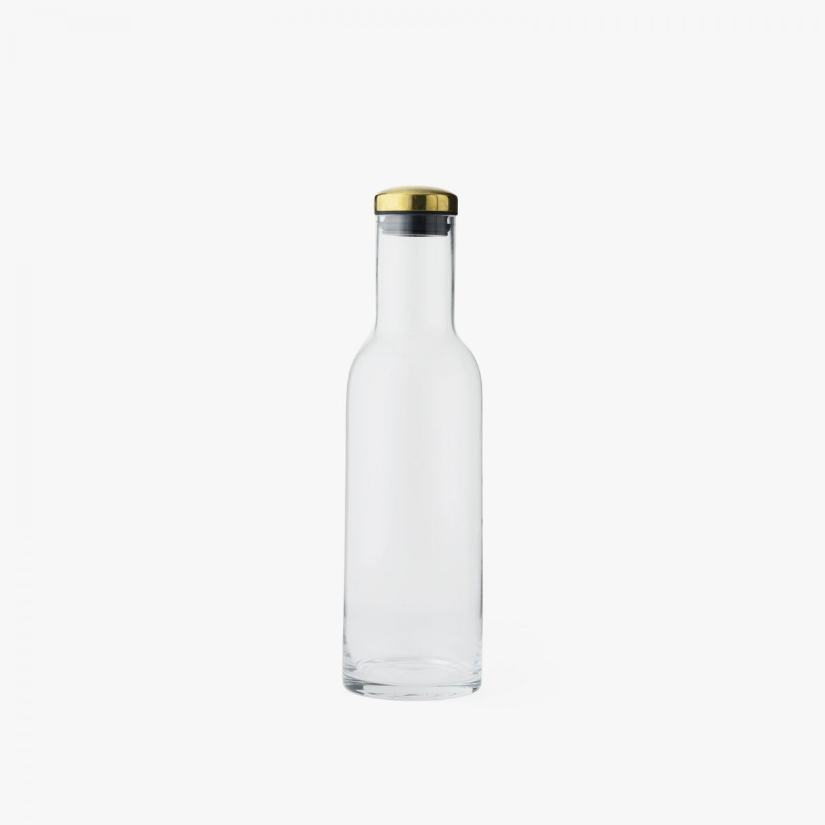 Bottle Carafe, 1 l, with Brass Lid.
