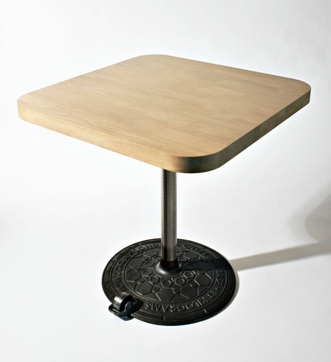 Roll Base with Birch Table Top Square.