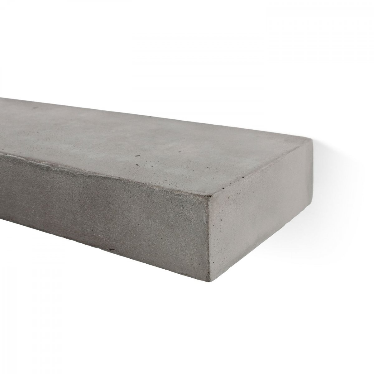 Sliced S Concrete Shelf, detail.