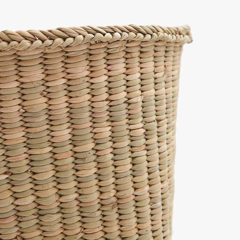 Woven Storage Basket, short, detail.