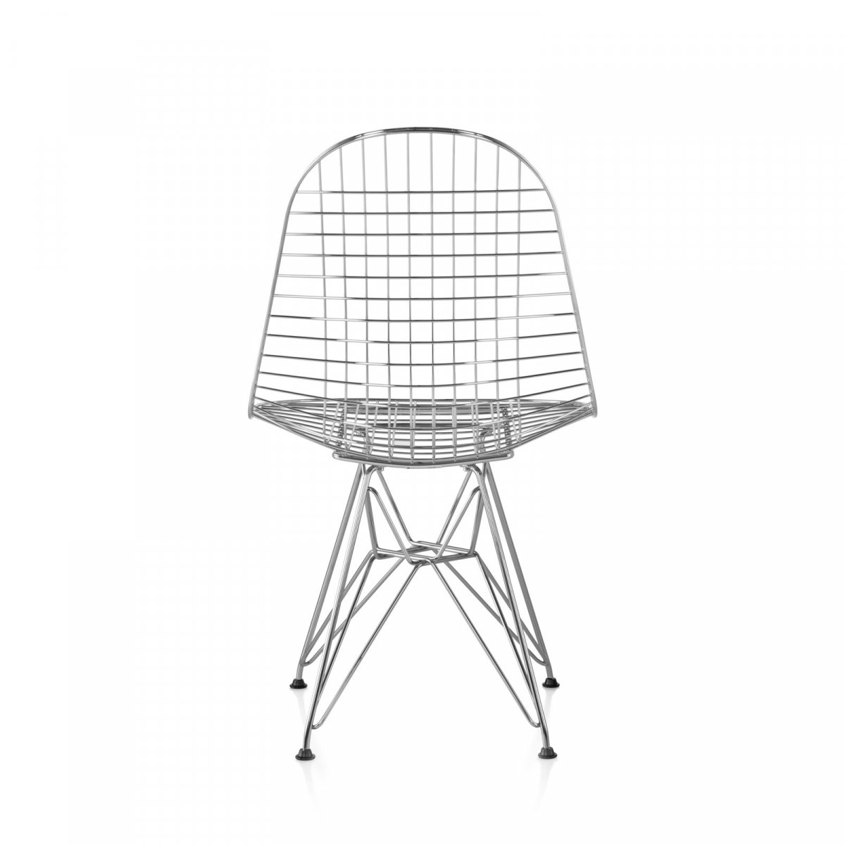 Eames Wire Chair, chrome, back view.