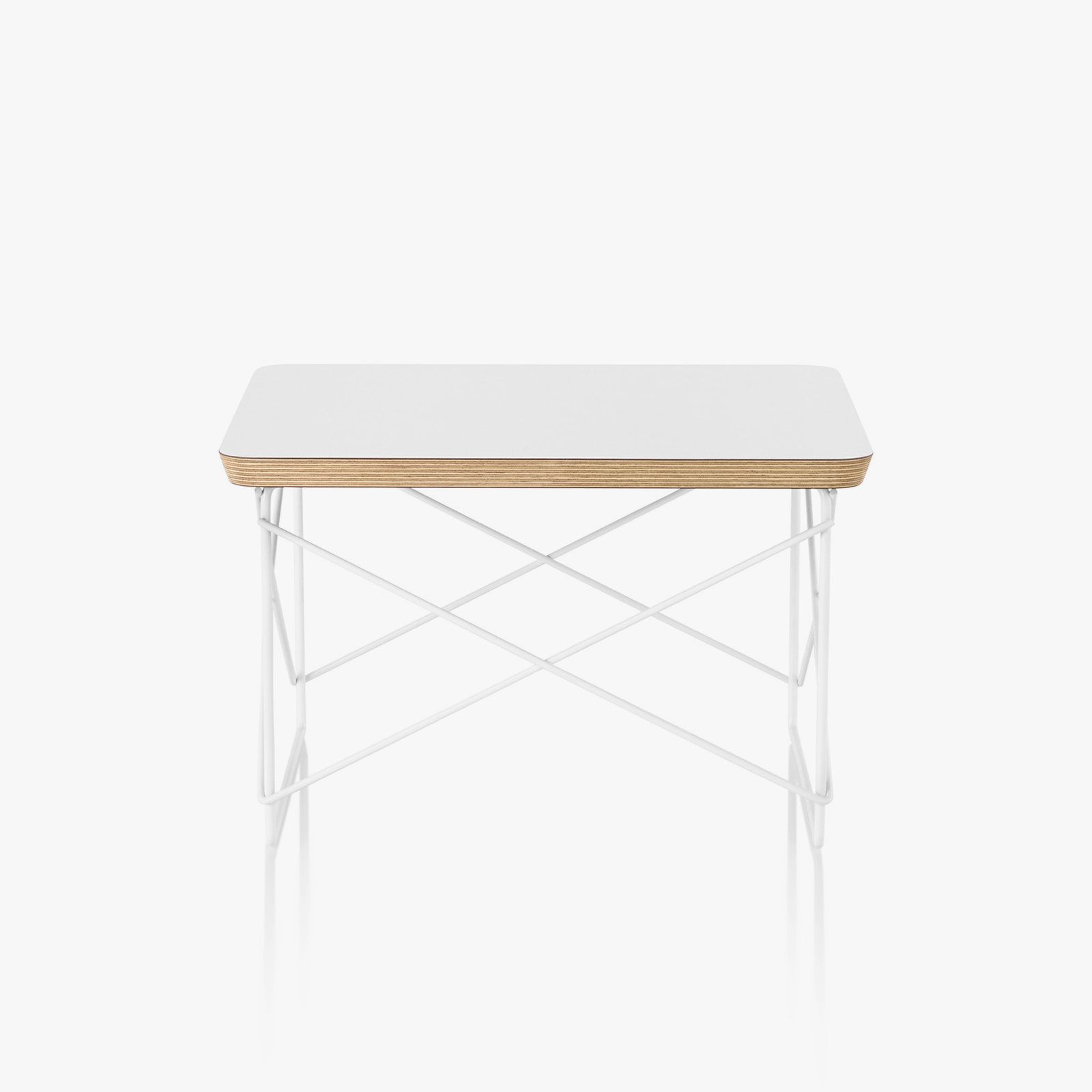 Eames wire base low table by charles ray eames for herman miller eames wire base low table white top with white base greentooth Gallery