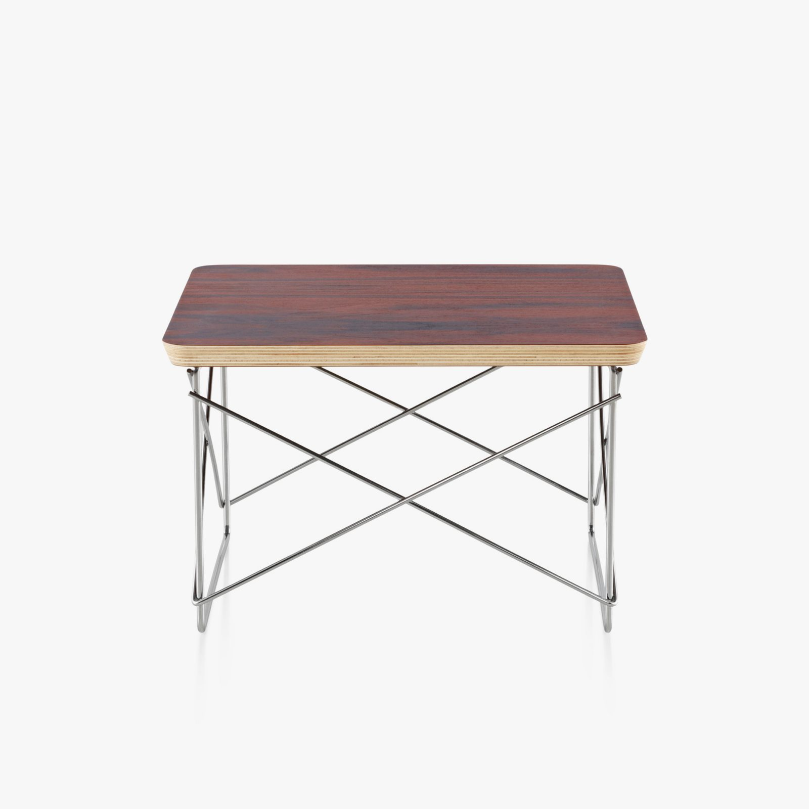 Eames wire base low table by charles ray eames for herman miller eames wire base low table santos palisander top with trivalent chrome base greentooth Gallery