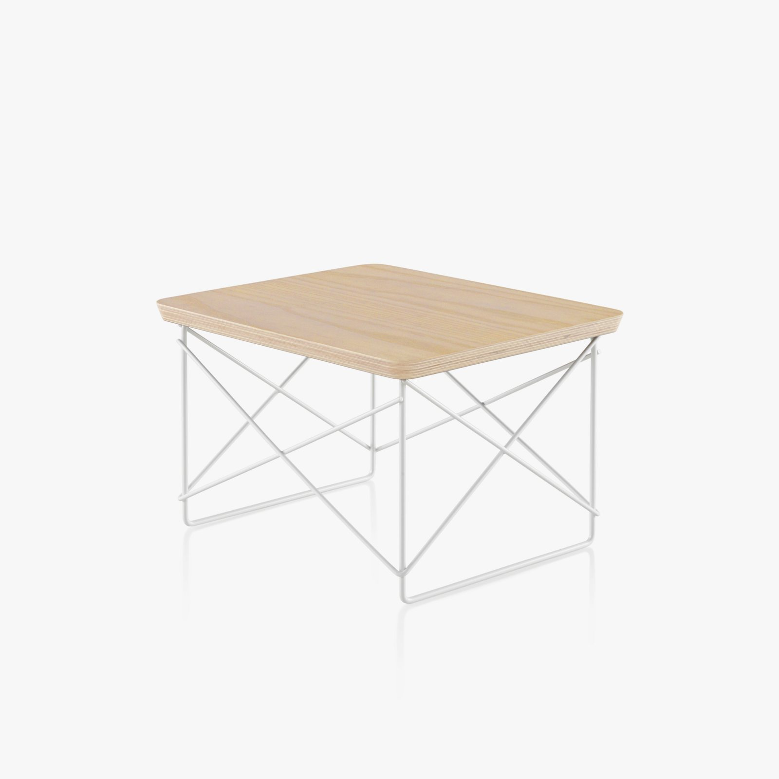 Eames wire base low table by charles ray eames for herman miller eames wire base low table white ash top with white base keyboard keysfo Images