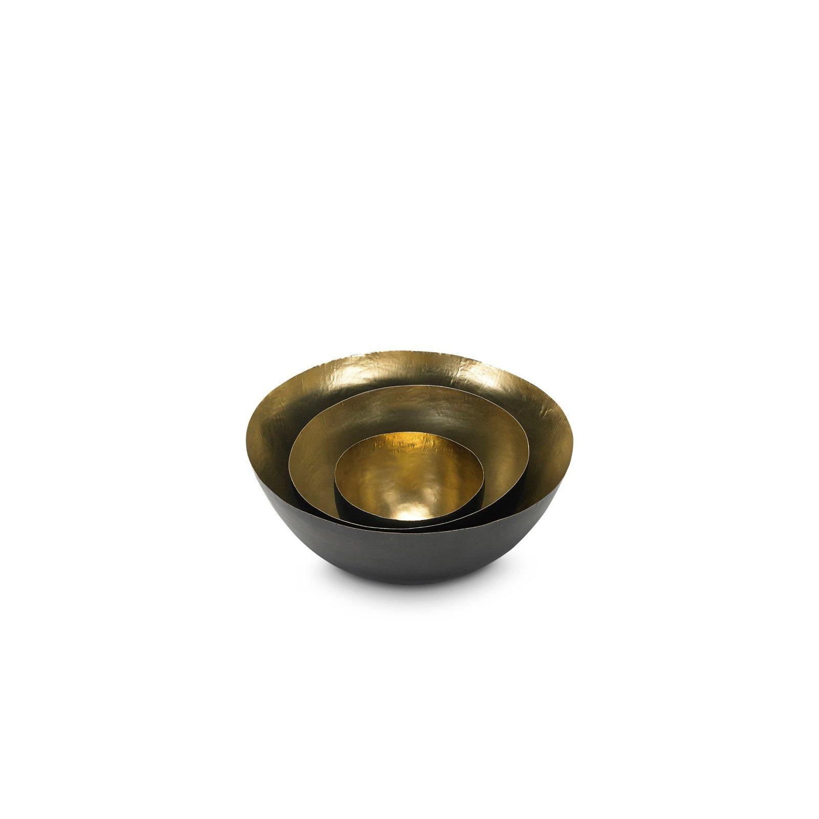 Form Bowl Deep Set Small Black Amp Brass By Tom Dixon Up