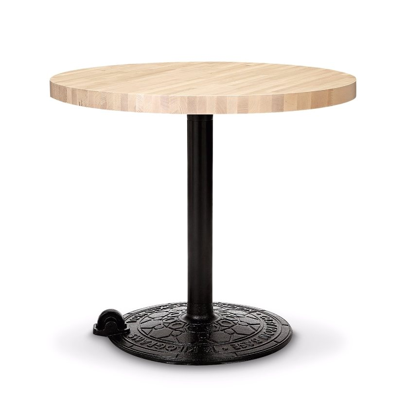 Roll Table Base Birch Round Top.