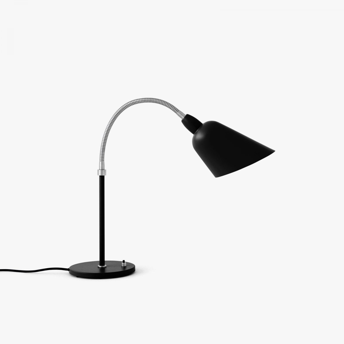 Bellevue AJ8 work lamp, black + steel.