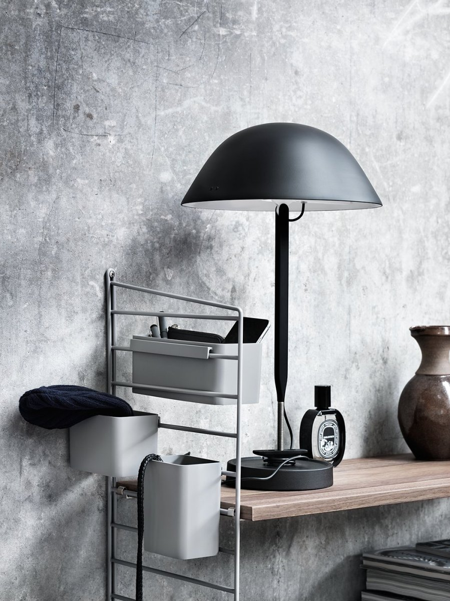 Sempé w103b table lamp, black.