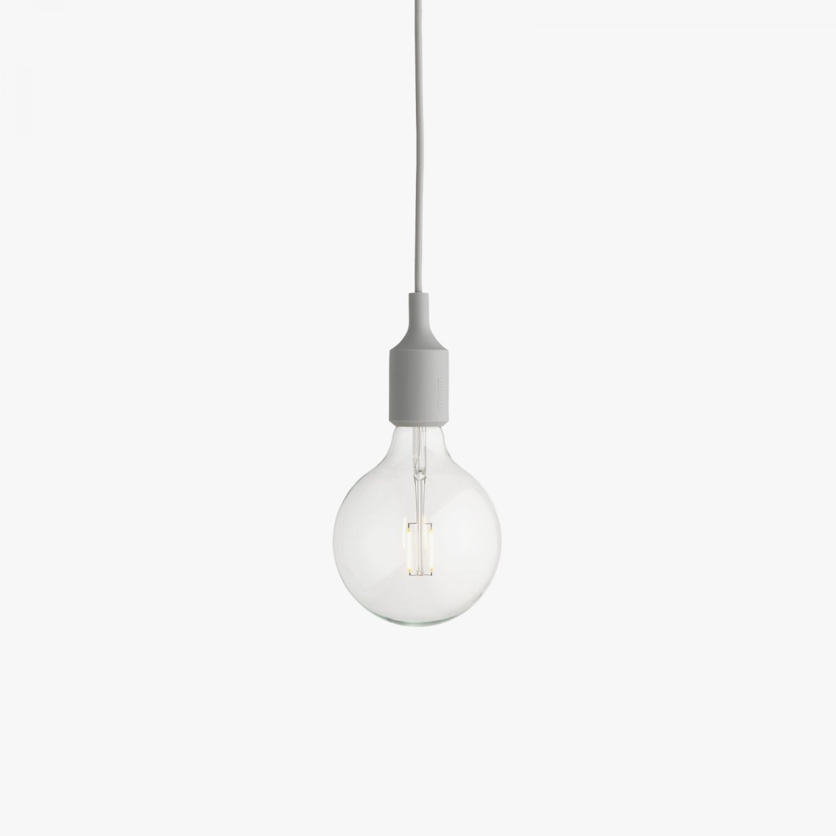 E27 Pendant Lamp, gray.