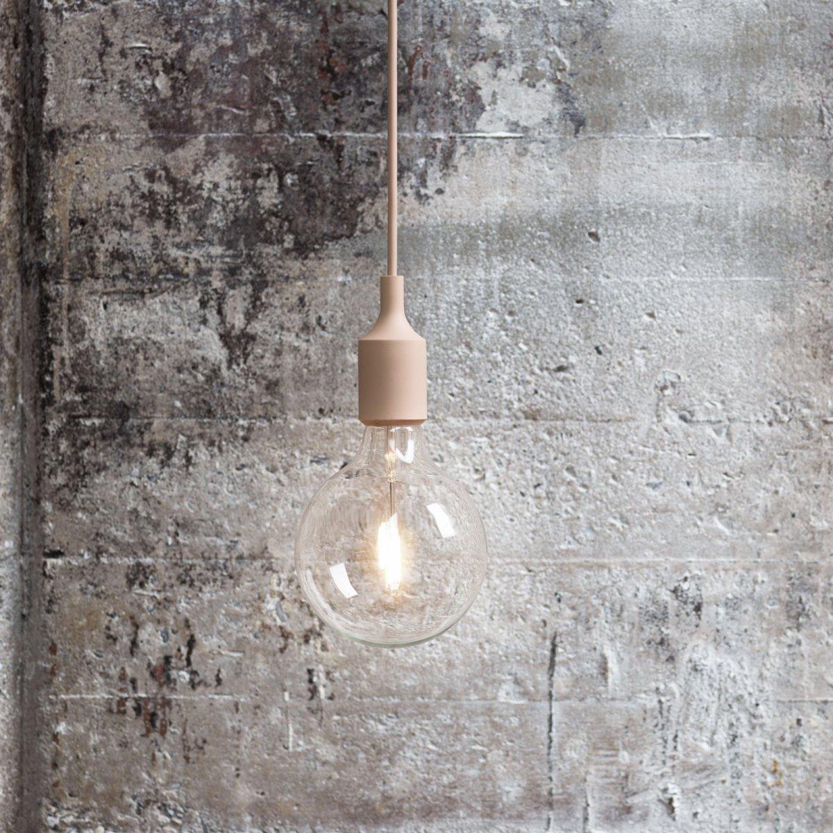 E27 Pendant Lamp, nude.