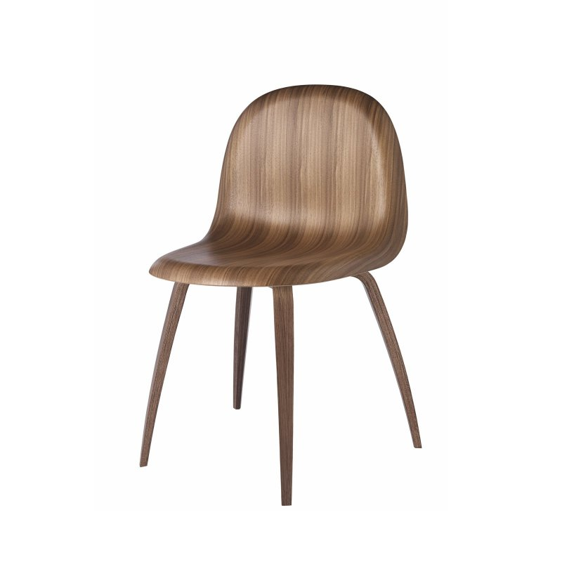 Gubi 5 chair, American walnut.