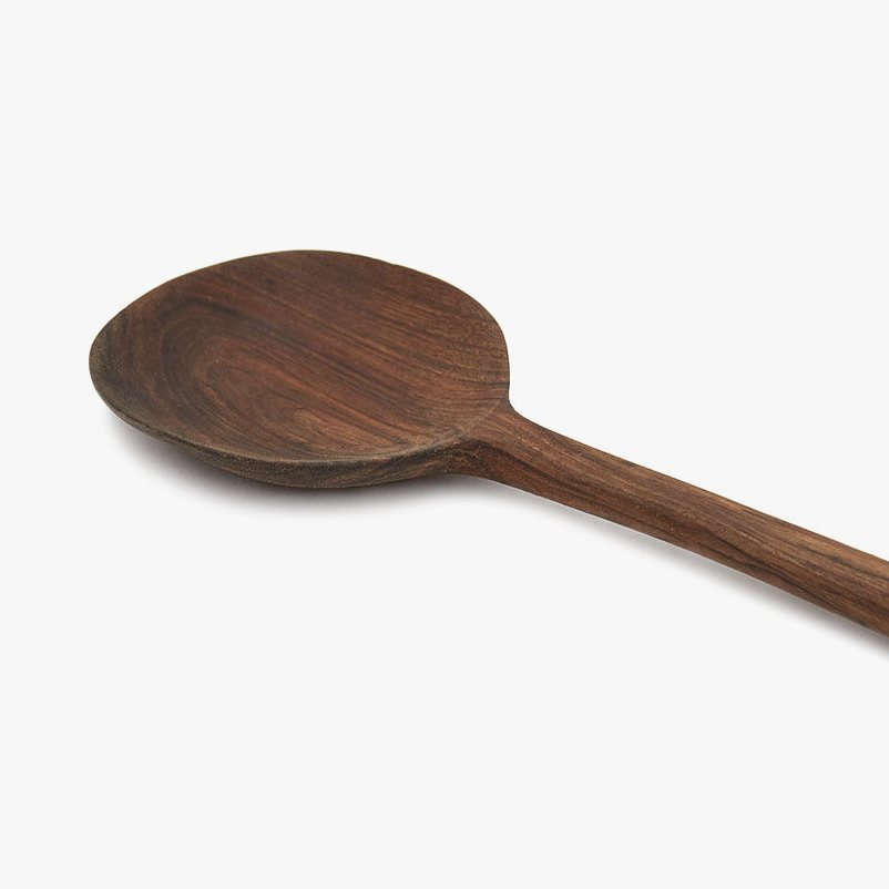 Simple Walnut Large Spoon, detail.