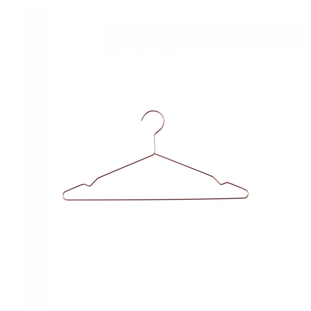 Hang clothes hanger, copper.