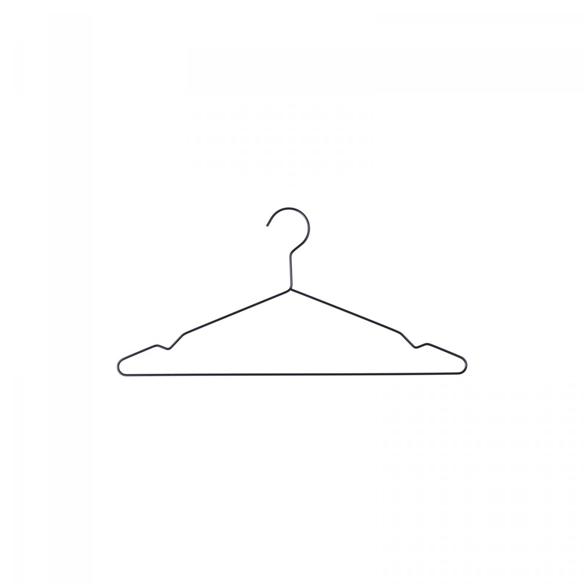 Hang clothes hanger, black.