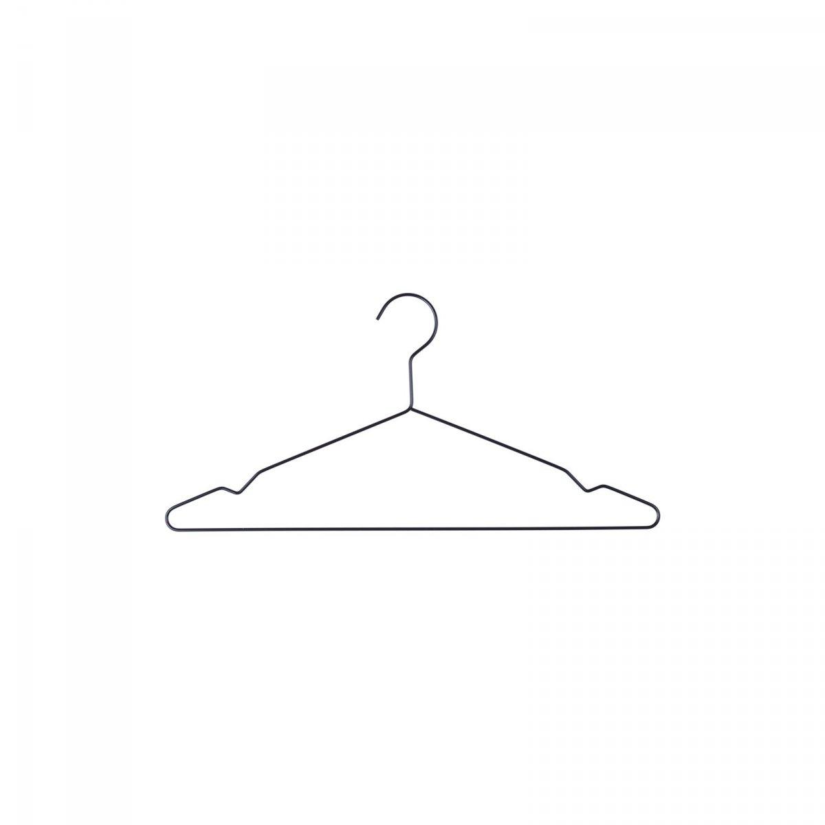 Hang clothes hanger, black.
