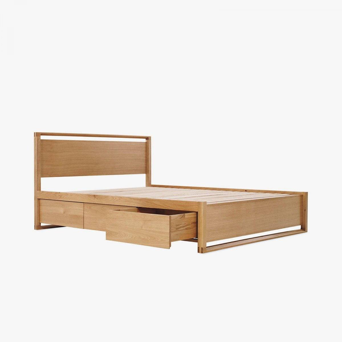 Matera Bed with Storage, oak.