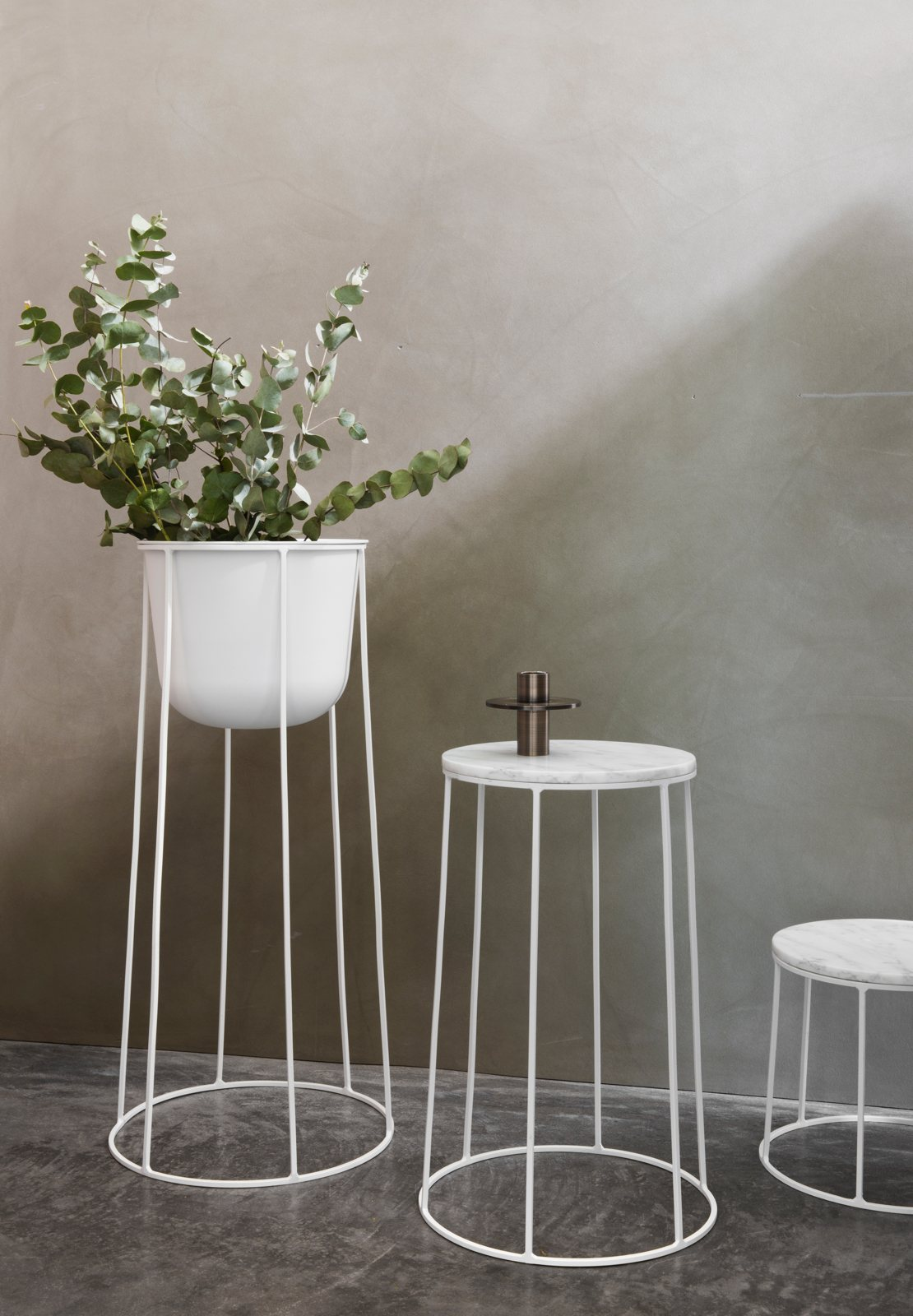 Wire Marble Top Pedestal Table By Norm Architects For Menu