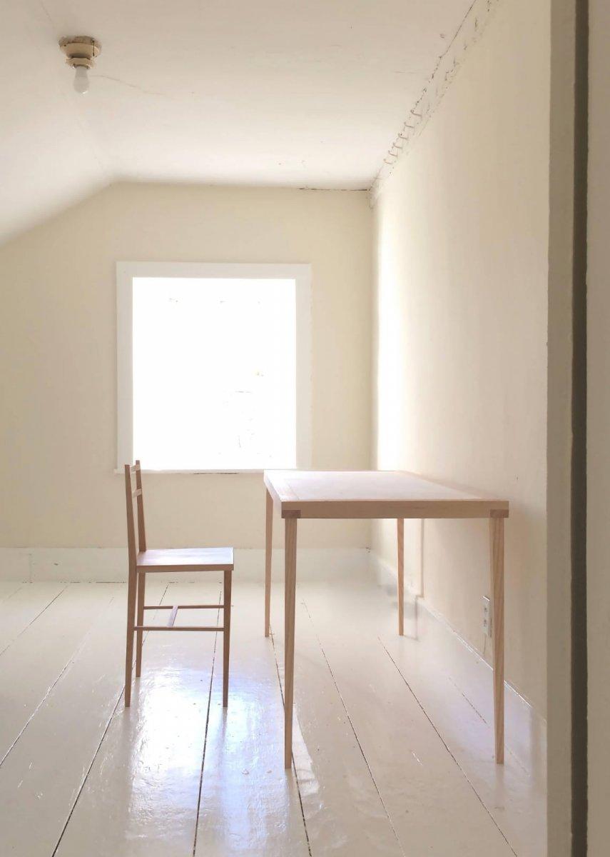 Deborah Ehrlich Writing Desk Table and Chair.