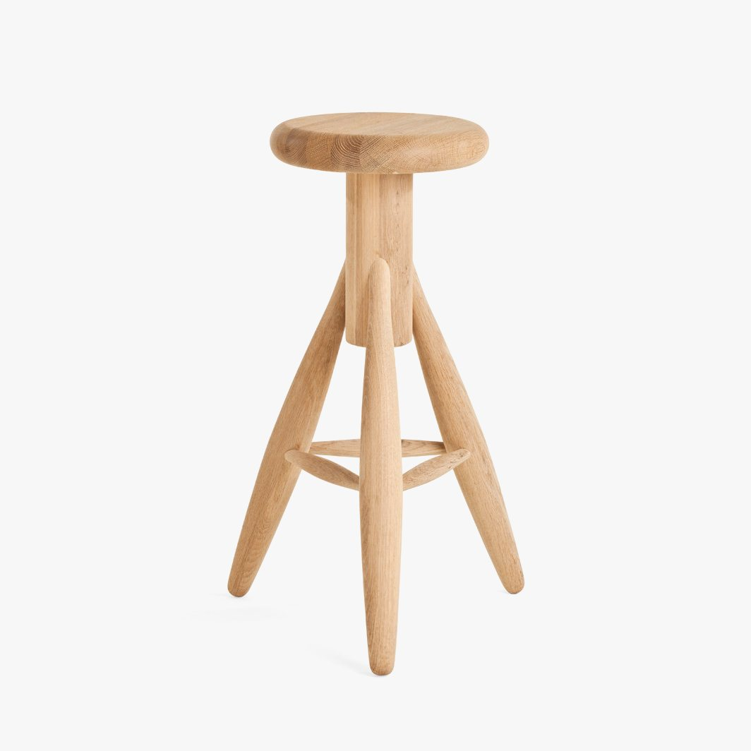 Rocket Bar Stool, soaped.
