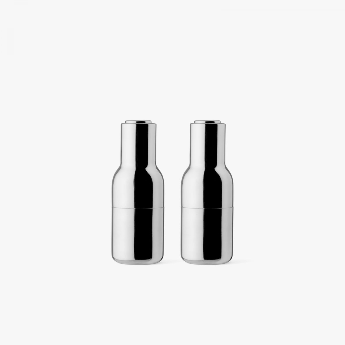 Bottle Grinders, mirror polished stainless steel.