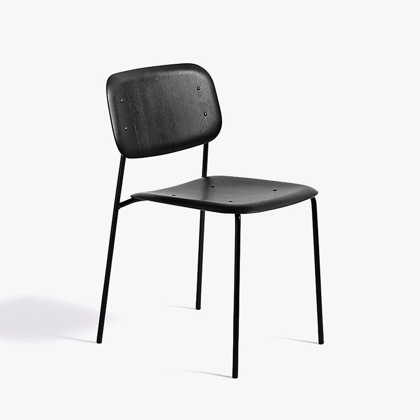 Soft Edge 10 Side Chair, black.