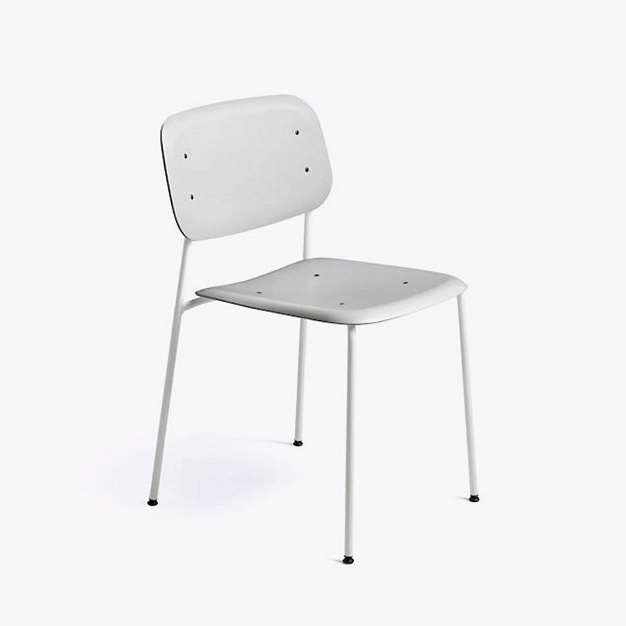 Soft Edge 10 Side Chair, soft gray + gray.