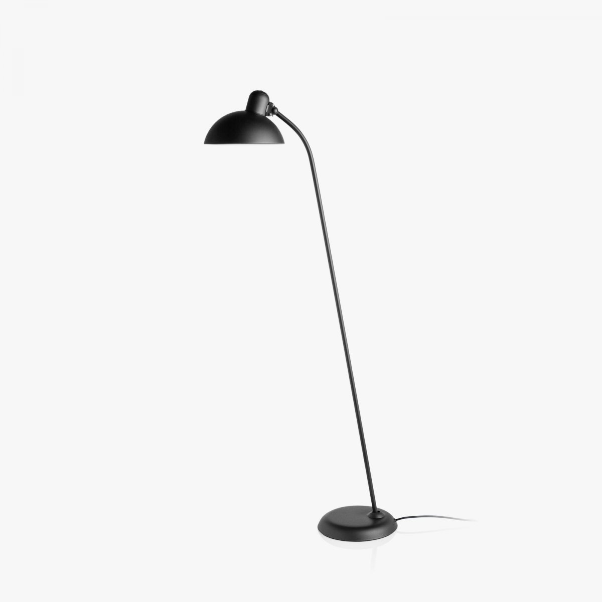 Kaiser Idell 6556-F tiltable floor lamp, matt black.