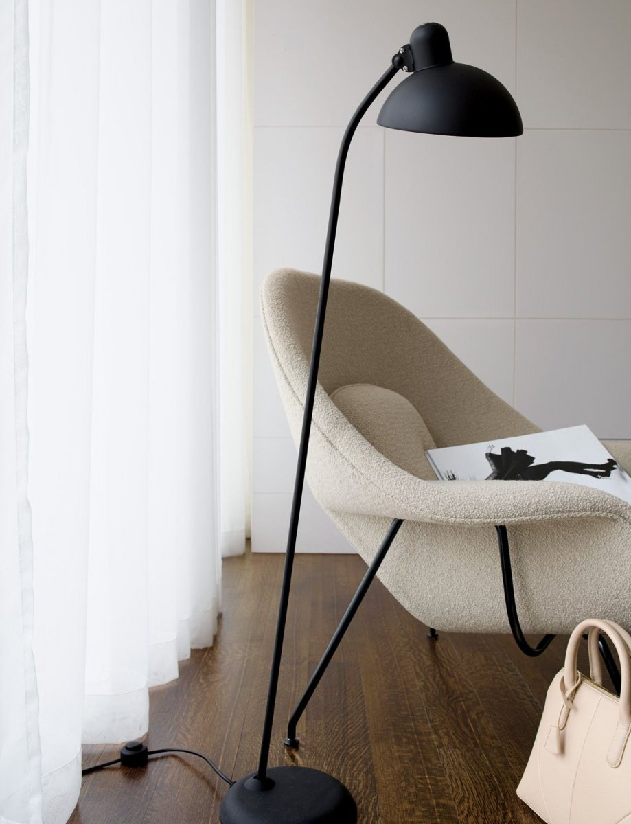 Kaiser Idell 6556-F tiltable floor lamp.