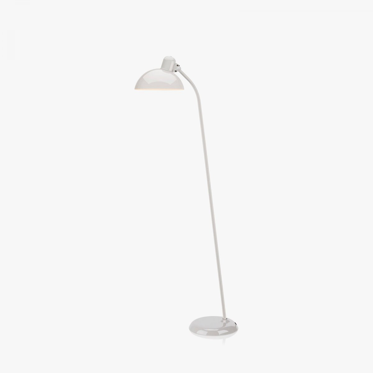 Kaiser Idell 6556-F tiltable floor lamp, white.