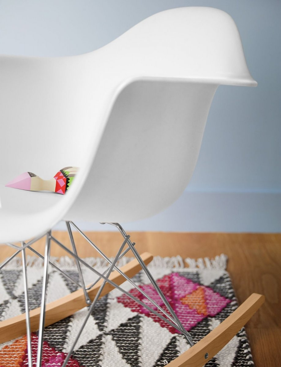 Eames Molded Plastic Armchair Rocker Base.