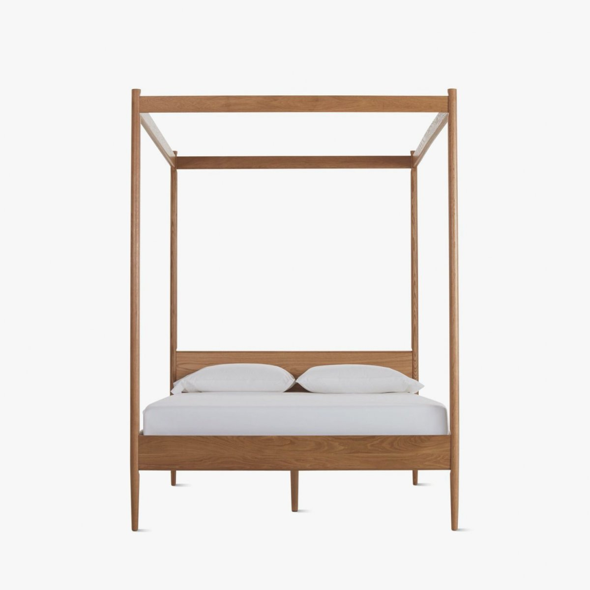 Cove Canopy Bed, oak, front view.