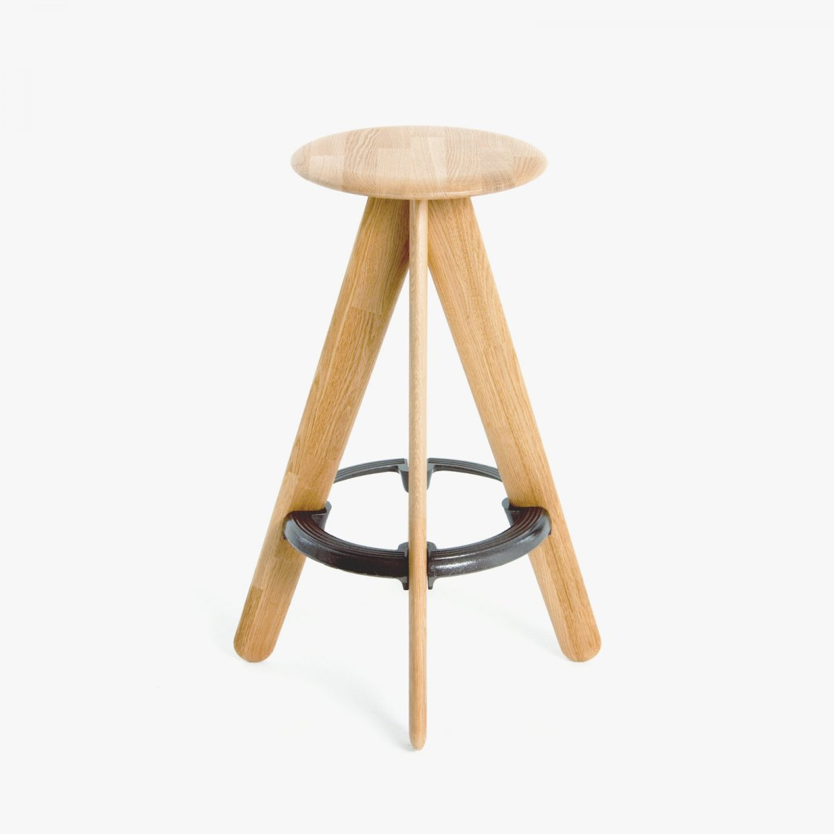 Slab Bar Stool, oak.