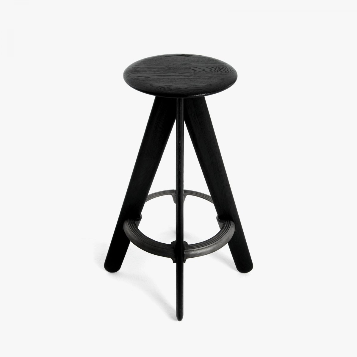 Slab Bar Stool, black.