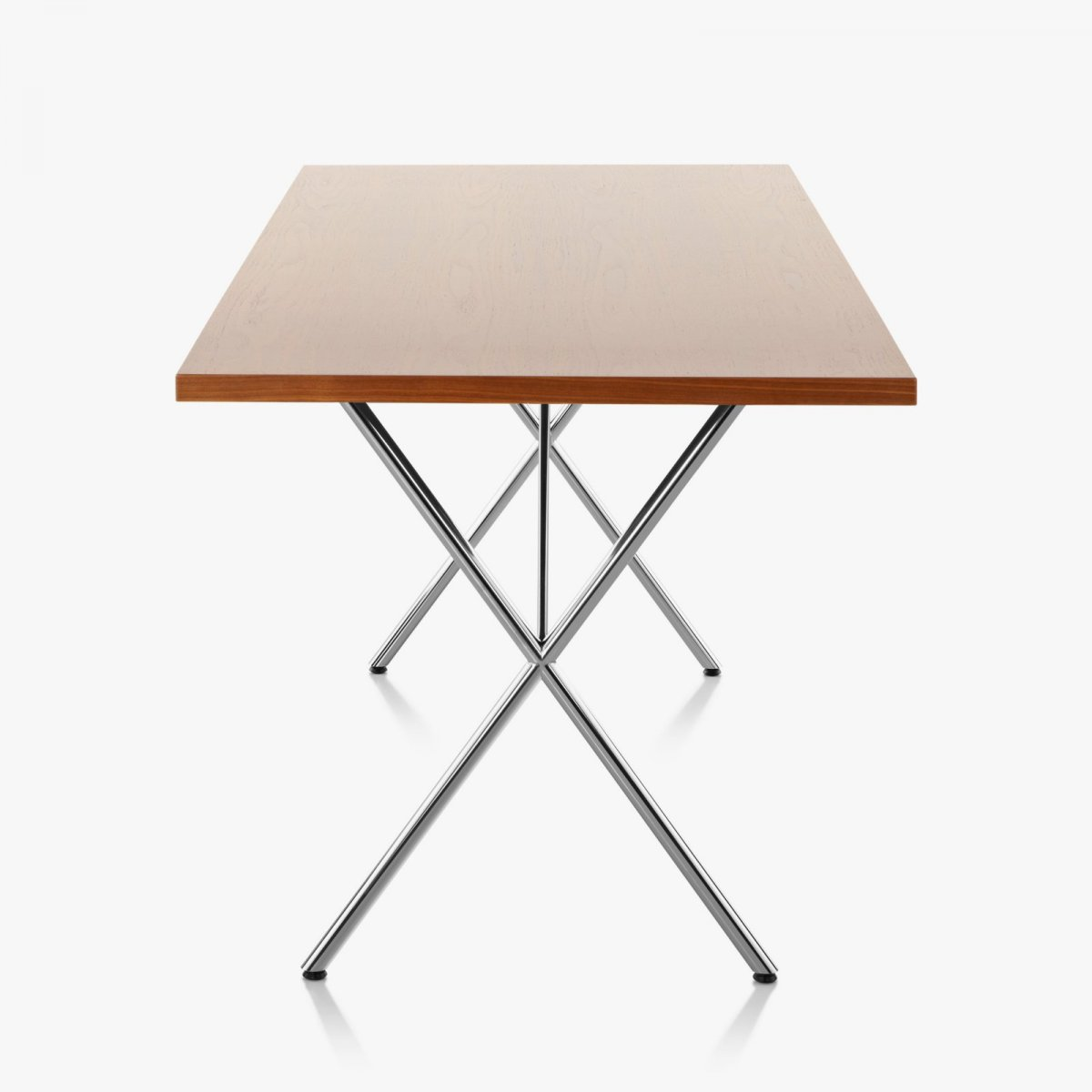 Nelson X-Leg Table, side view.